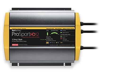 ProMariner ProSport HD 12 Amp Dual Bank Waterproof Marine Battery Charger, 44012