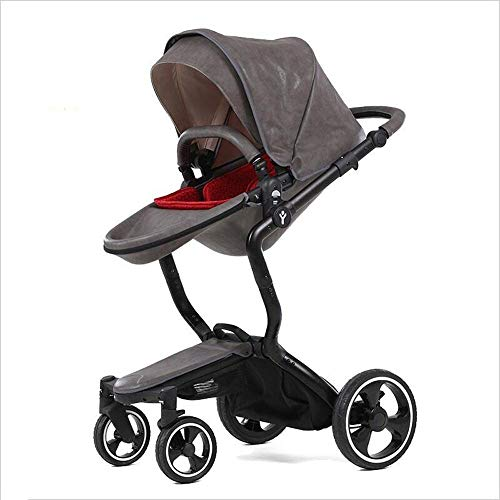 Best Deals! Baby Carriage Luxury High Landscape Baby Stroller Can Sit Reclining Stroller Baby Stroll...