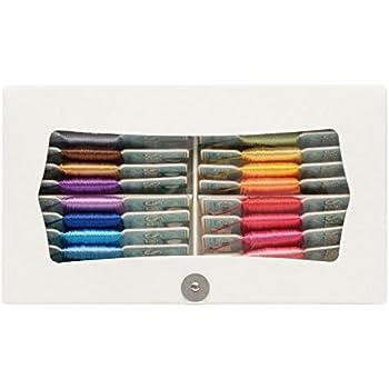 FUJIX SARA ステッチ糸 紙箱セット FK141380 1枚20m巻 全20色各1枚入り