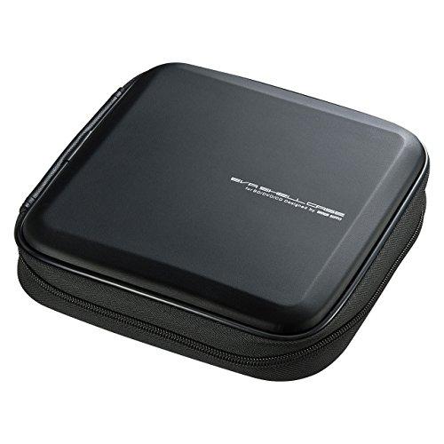 サンワサプライ 24枚収納 BD・CD・DVDセミハードケース(ブルーレイディスク対応不織布タイプ) ブラック FCD-WLBD24BK