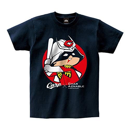 広島東洋カープ×機動戦士ガンダム コラボ Tシャツ (シャア坊や) ネイビー (S)