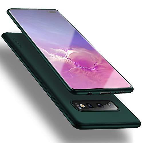 X-level Samsung Galaxy S10 Plus Hülle, [Guardian Serie] Soft Flex TPU Hülle Superdünn Handyhülle Silikon Bumper Cover Schutz Tasche Schale Schutzhülle für Samsung Galaxy S10 Plus - Grün