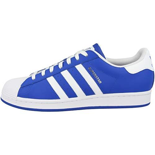 adidas Zapatillas para hombre Low Superstar, color Azul, talla 48 2/3 EU