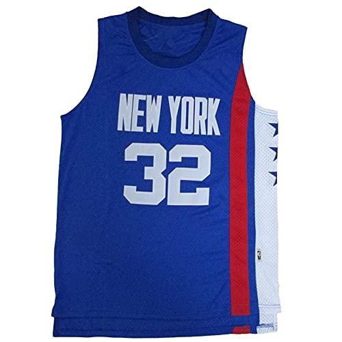 Lvbeis Maglie da Uomo Brooklyn Nets #32 Maglie da Basket Retro Traspirante Vest,Blue,L