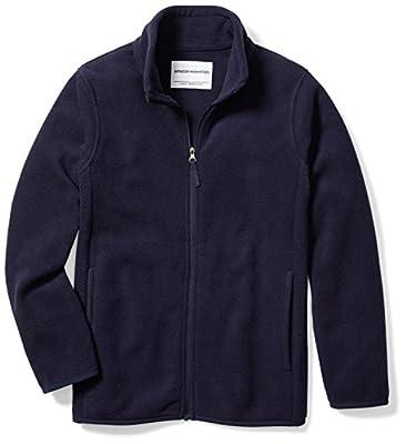 Amazon Essentials Big Boy's Full-Zip Polar Fleece Jacket, Night Navy, X-Large