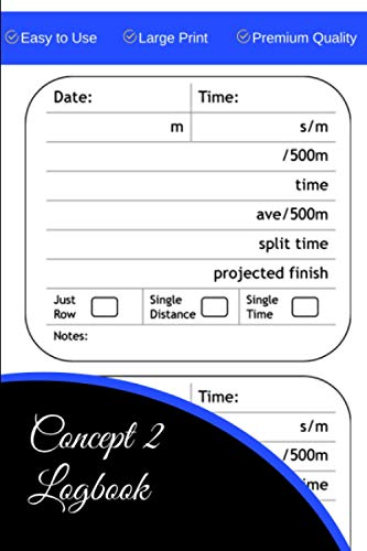 Concept 2 Logbook: The Concept2 Logbook allows you to record your workouts and keep track of your total meters, pace, strokes per minute, split time for distance and time workouts