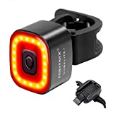 ENFITNIX USB Rechargeable Smart Bike Tail Light Cubelite II,LED Lumen Bicycle Light Water Proof Brake Sensing Auto On/Off in Day Mode/Night Mode for Cycling Safety Fit All Road Bikes (Black)