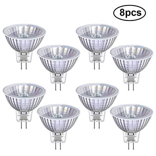 Preisvergleich Produktbild Vicloon MR16 Halogenlampe,  8 Stück GU5.3 Halogen-Reflektor,  Halogenlampe GU5.3-Sockel,  12 Volt,  35 Watt,  450 LM,  38° Abstrahlungswinkel,  2800K Warmweiß Lampe Strahler