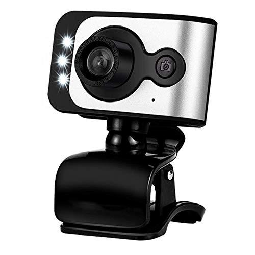 Bradoner Cámara Web De Webcam 12MP HD 720p / 480p For Skype Conferencia De Clase En Vivo con Micrófono Incorporado con Enchufe USB Y Reproducir Videocámaras, Pantalla De Pantalla Panorámica