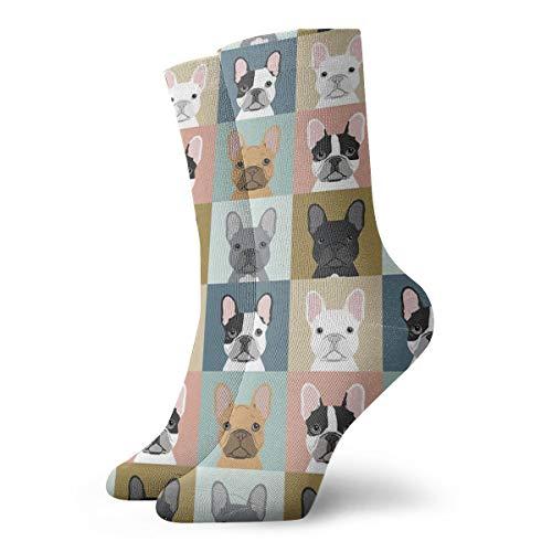 Dress Socks for Men, Novelty Gift Socks, Funny Art Crew Socks French Bulldog Dog for Outdoor Recreation Yoga Sports, Soft Wicking Socks Suitable for Daily Office