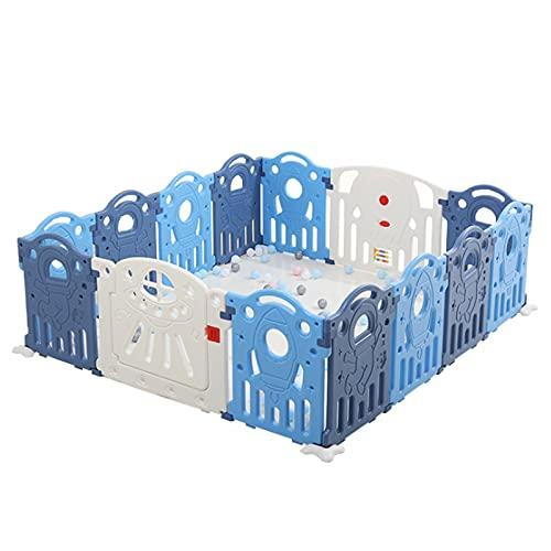 Playpen Baby Pournable 14 Panel Cerca De La Valla Centro De Seguridad Playard Con Puerta De Bloqueo, Cerca De Niño Interior Al Aire Libre, Cierre De Doble Capa Para Niños, Interiores O...