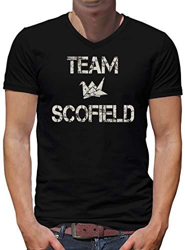 TShirt-People Team Scofield V-Kragen T-Shirt Herren XXL Schwarz