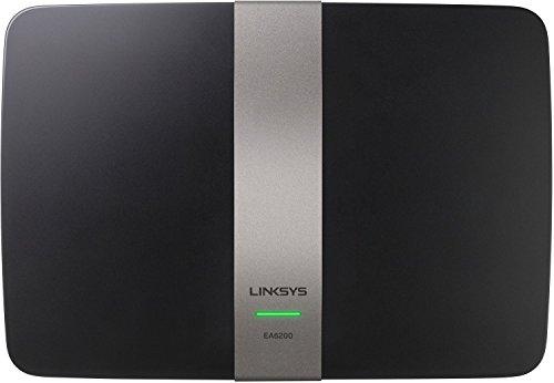 Linksys EA6200-EJ Wireless AC900 Router (900Mbit/s, QoS, Beamforming, Dual Band, 4 Gigabit Ethernet Ports, USB 3.0, Smart WiFi app), schwarz