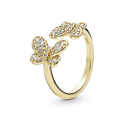 Pandora Damen-Ringe 925 Sterlingsilber zirkonia '- Ringgröße 52 167913CZ-52