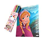 Frozen Azul Colorea, Juega, Pegatinas Libro de pegatinas Super Juegos Disney Frozen 48 pag. Lapices Hello Kitty