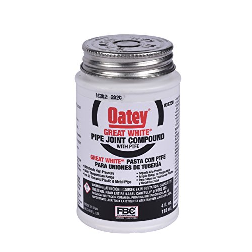 Oatey 31230 Pipe Joint Compound with PTFE with Brush, 4 fl.Ounce,black,1.8' x 1.8' x 3.5'