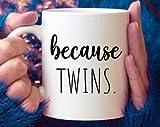 Taza de 15 onzas, porque gemelos, anuncio de embarazo, papá de gemelos, mamá de gemelos, regalo para padres de gemelos, baby shower