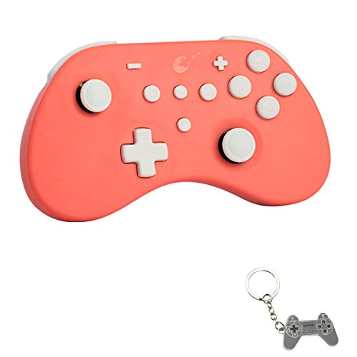 Gulikit Elves Wireless Controller for Nintendo Switch/PC/Windows/Android/iOS, Switch Bluetooth Controllers Gamepad with Auto Pilot Gaming Supports 6-axis Gyro, Turbo and Dual Vibration -Coral