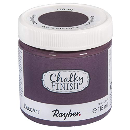 Rayher 38867304 Chalky Finish, brombeere, Dose 118ml