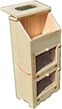 Amish Handcrafted Unfinished Bread Box with 2 Door Vegetable Bin, 35 x 16.5-Inch
