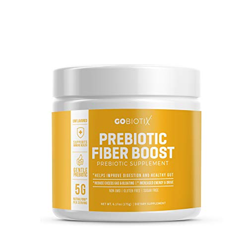 GoBiotix Prebiotic Fiber Boost Powder | Support a Healthy Gut & Digestive Regularity, Feed Good Bacteria, Ease Gas | Complement For Every Probiotics Supplement | Gluten & Sugar-Free, Keto, Vegan -175g