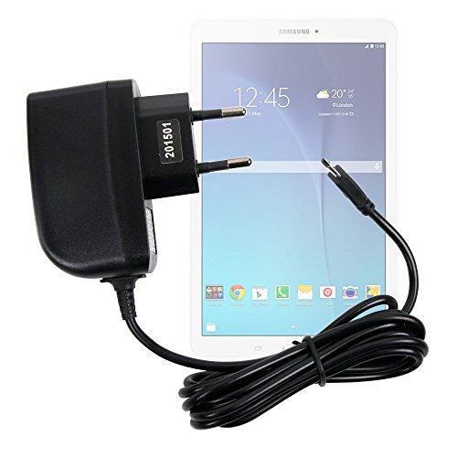 Duragadget - Cargador de pared para Samsung Galaxy Tab E 9.6 SM-T560, SM-T561 Tablet táctil - Carga rápida 2 A y puerto Micro USB