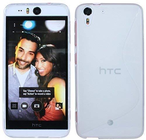 ENERGMiX Silikon Hülle kompatibel mit HTC Desire Eye Tasche Case Gummi Schutzhülle Zubehör in Transparent