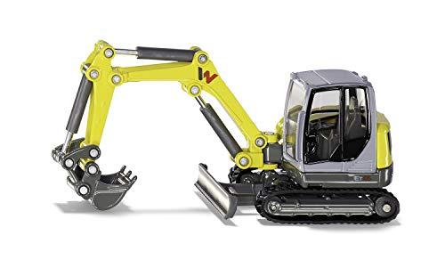 Siku 3559, Wacker Neuson ET 65 Kettenbagger, 1:50, Metall/Kunststoff, Gelb, Viele Funktionen, Bewegliches Fahrgestell, Beweglicher Baggerarm