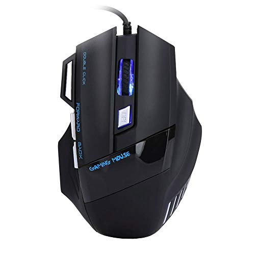 Diydeg Game Mice, Game Mouse, Colorful Light Emitting Mechanical Mouse Gaming Professional Players for High-end Players