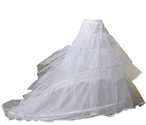 kivie Underskirt Crinoline für Ballkleid Abendkleid Brautkleid Langer Reifrock Petticoat mit Schleppe