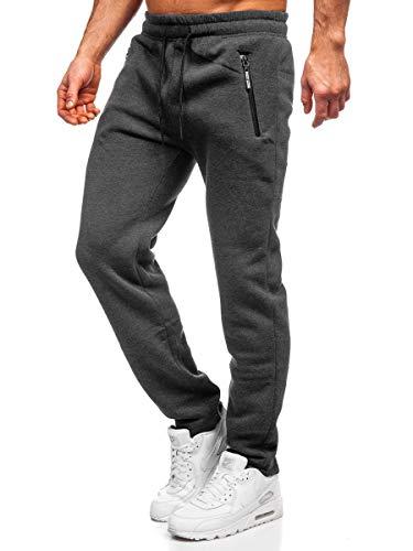 BOLF Herren Sporthose Jogginghose Trainingshose Fußballhose Fitnesshose Jogger Sweathose Jogpants Sweatpants Beinabschluss Pants Modelle und Farben Must JX8505 Dunkelgrau XL [6F6]