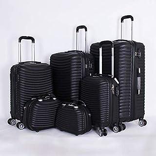 كابتال حقائب سفر بعجلات للجنسين 6 قطع ، اسود ، 1605116