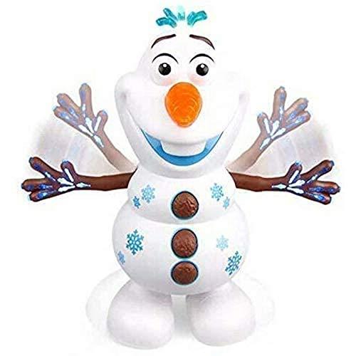 Juguete eléctrico de muñeco de nieve de música bailable, muñeco de nieve eléctrico que canta y baila Olaf robot Regalo de Navidad