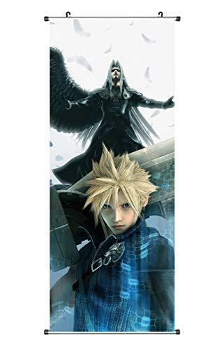 CoolChange Großes Final Fantasy VII Rollbild   Kakemono aus Stoff   Poster 100x40cm   Motiv: Cloud Strife & Sephiroth