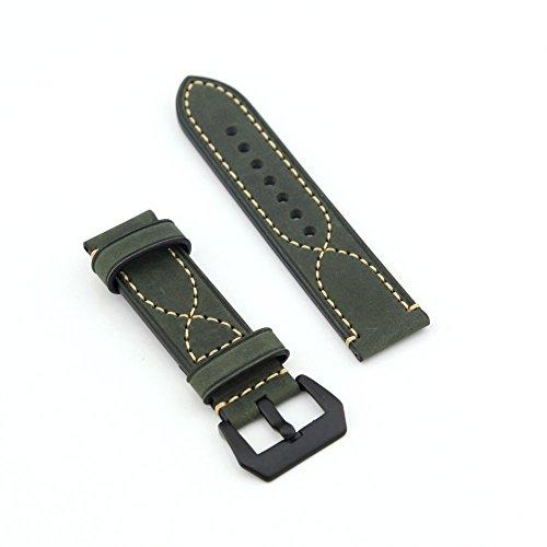 Owfeel (TM)–'S Delicate cuciture cintura cinturino di ricambio in pelle grigio scuro, 24