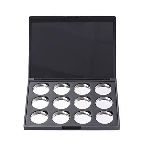 BESTONZON Leere Lidschatten-Palette mit 12 Pfännchen für Lidschatten Highligt Schmink