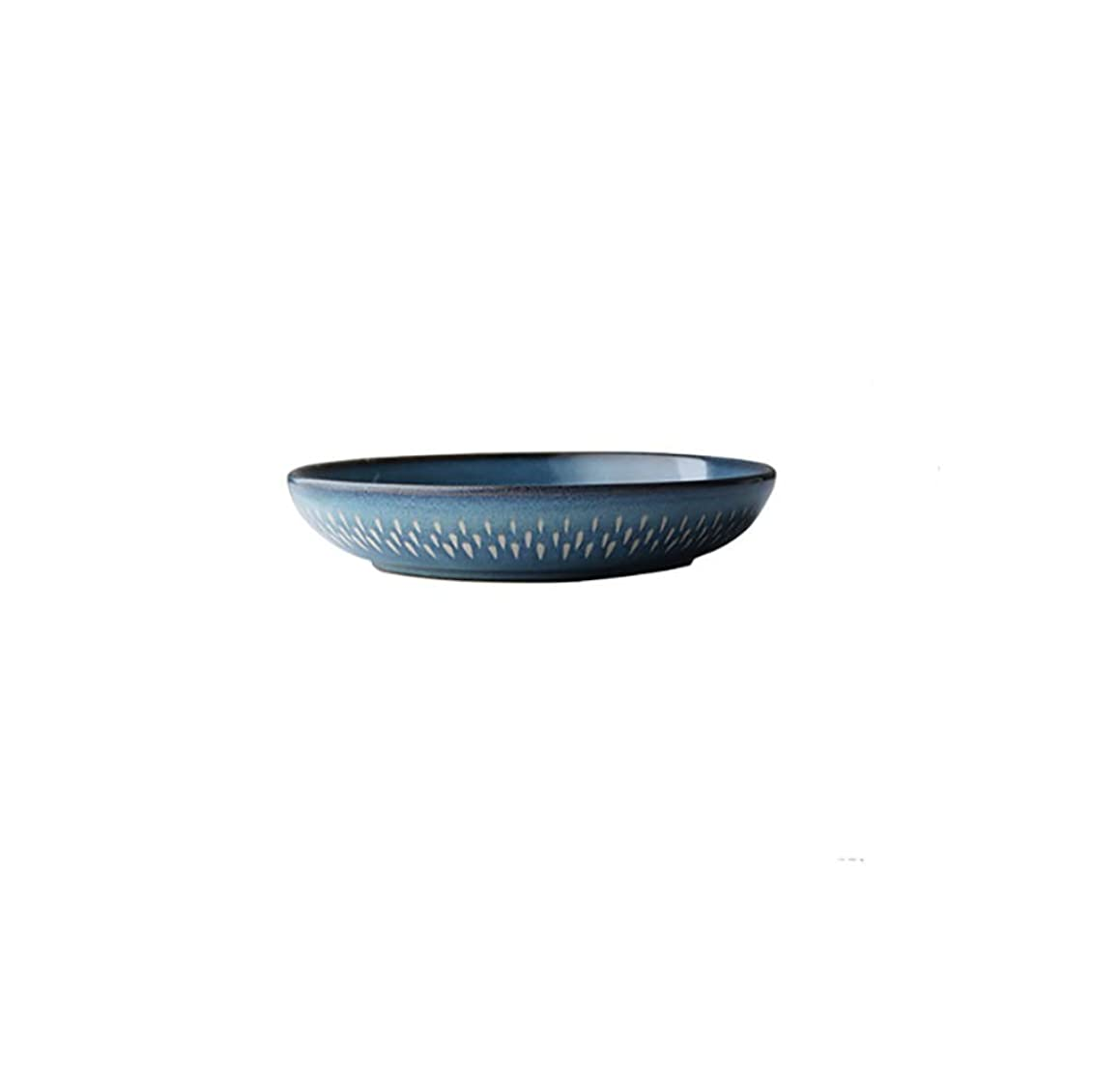 Tableware soup bowl bowl ceramic mixing bowl shallow mouth basin large soup bowl dish home salad bowl salad plate (Color : 1PCS)