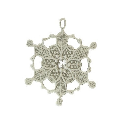 Heritage Lace Christmas 4-Inch Round Off White Christmas Ornament, Set of 2