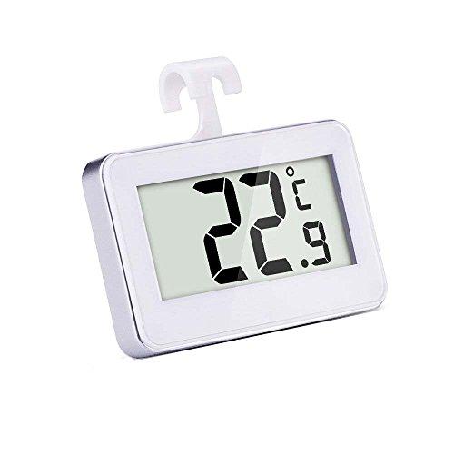 Refrigerador Digital Inalámbrico/Termómetro del Congelador,Termómetro Digital para FrigoríFicos,Termómetro Digital de Nevera y Congelador,Blanco