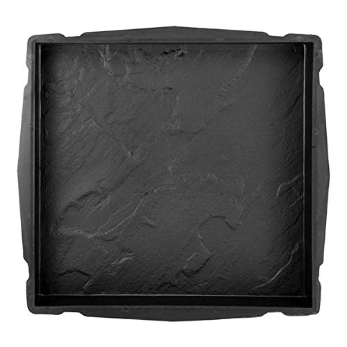 @tec Betonform Schalungsform Gießform Polypropylen (Kunststoff) - Terrassenplatte/Gehwegplatte Marmoroptik- 45 x 45 x 5 cm
