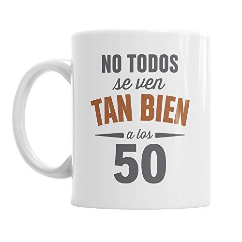 Design, Invent, Print! Taza de 50 cumpleaños - para Hombre y Mujer - como Regalo Divertido o Recuerdo - Blanco - 295ml (10 FL oz)