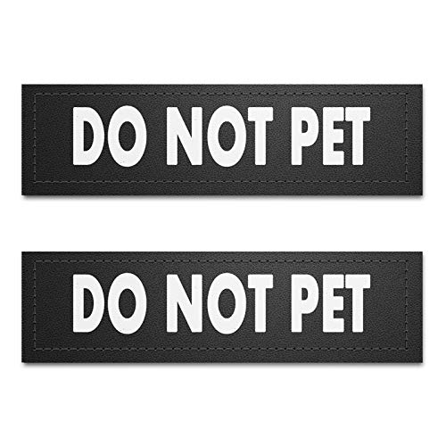 voopet Dog Vest Patches for Dog Harness, Removable Patches - Service Dog, Emotional Support, in Training, Therapy Dog, DO NOT PET(2 pcs)