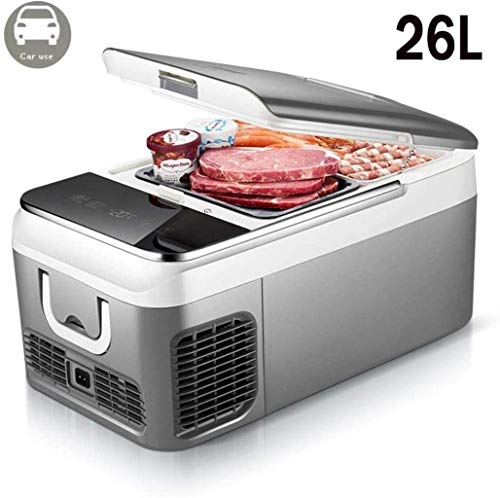 Portable compresor del congelador de refrigerador (18, 26 litros) Mini AC 220V o DC 12 V / 24 V Desarrollado Enfriador  Alimentos, bebidas,  Camping, viajes, gris-coche Use18l 1yess