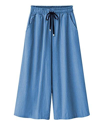 Pantalones Anchos con Cordón para Mujeres, Pantalones De Verano, Tallas Grandes