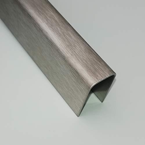 U-Winkel V2A U-Profil 1 Meter U Blech 0,8 mm stark (K240 geschliffen, 20x20x20 mm)