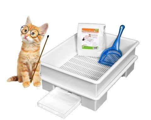 SMART CAT BOX Starter Kit - Cat Litter Box - DOES NOT USE EXPENSIVE URINE PADS - Made in the USA