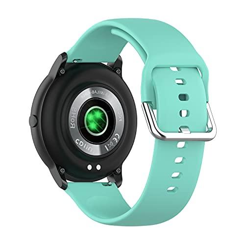 BoLuo 22mm Cinturini per Xiaomi Haylou RT LS05S /OnePlus Watch,Cintura Ricambio,Cinturino Sostitutivo per Cinturino Sportivo Cinturino per Yamay Sw022/Imilab Kw66 /Ticwatch GTX/CXB01 (green1, large)