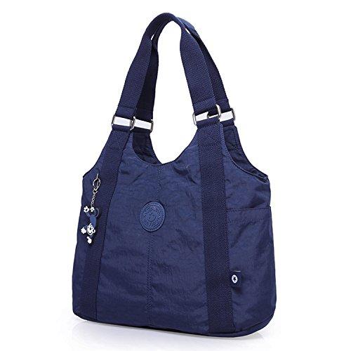 Foino Schultertasche Wasserdicht Umhängetasche Damen Handtasche Mode Kuriertasche Lässige Sporttasche Reisetasche Design Seitentasche Leicht Büchertasche Vintage Taschen für Mädchen