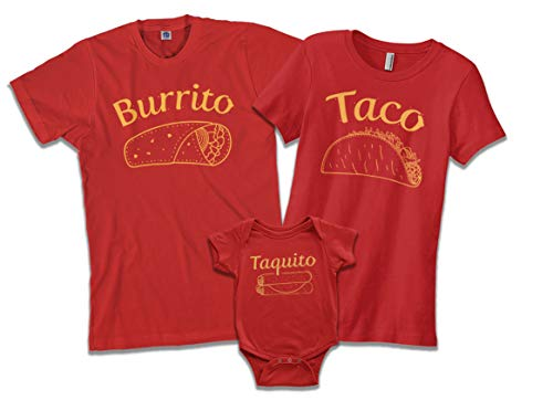 Taco | Mom Mother Women's Fitted T-Shirt | Medium, Red Dad Womens Fitted T-shirt