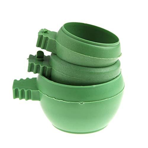 JIANMIN Mini-Futterschüssel für Vögel, Papageien, Kunststoff, Tauben, Vögel, Käfig, Sand, Futterhalter, Vogelfutterspender (Farbe: 3 Stück)